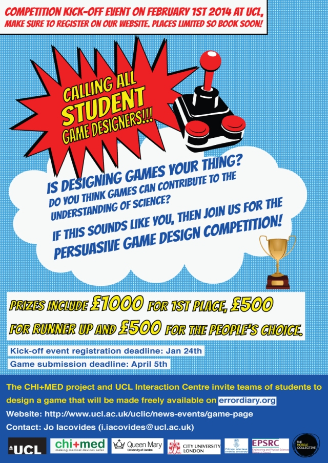 London Event Calling All Student Game Designers