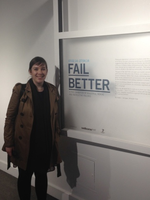 Sarah at Fail Better exhibition
