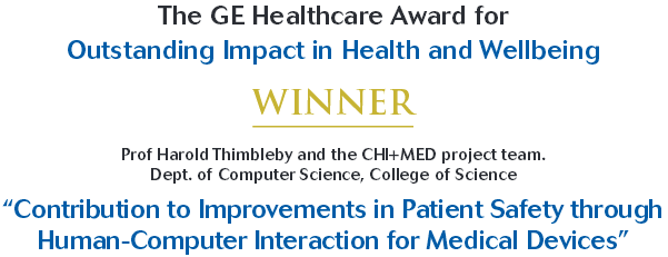 GE Healthcare award winner